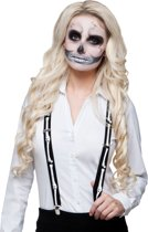 Skelet bretels voor volwassenen - Verkleedattribuut
