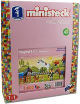 Ministeck Pony's 4in1, 1000st. Afmeting artikel: 26,6 x 33,3 cm