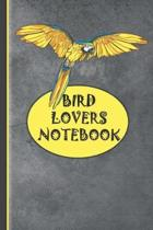 Bird Lovers Notebook: Bird Gifts Lined Paperback Yellow, Blue & Grey Notebook