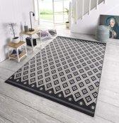 Design vloerkleed Karree - zwart/grijs 140x200 cm