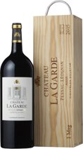 Château La Garde Magnum - Merlot, Cabernet Sauvignon, E.A. - Stevige Rode Wijn - 1 x 150 cl