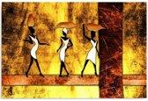 Schilderij - Afrika, drie vrouwen, 1 deel