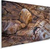 Kliffen in het Nationaal park Cabo Polonio in Uruguay Plexiglas 120x80 cm - Foto print op Glas (Plexiglas wanddecoratie)