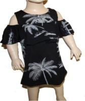 Palm dress zwart maat 98-104