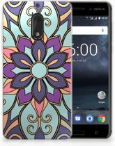 Nokia 6 TPU Hoesje Design Purple Flower