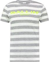 Ballin Amsterdam Striped Logo T-shirt White Yellow
