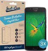 Just in Case Screen Protector Motorola Moto G5 - Crystal Clear - 3 stuks