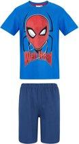 Spider Man Pyjama met korte mouw - blauw - Maat 140