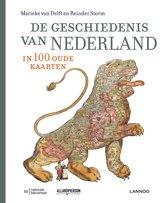Boek cover De geschiedenis van Nederland in 100 oude kaarten van Delft, Marieke van (Hardcover)