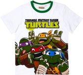 Ninja-Turtles-T-shirt-met-korte-mouw-wit - Maat 134