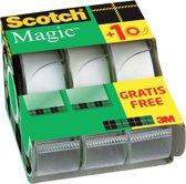 Scotch® Magic™ tape, rekverpakking, 19 mm x 7.5 m, 2 rollen + 1 GRATIS