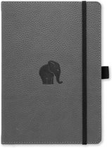 Dingbats A5+ Wildlife Grey Elephant Notebook - Dotted