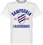 Sampdoria Established T-Shirt - Wit - XXL