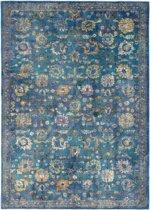 Vintage vloerkleed Sarough 80x150 cm - Blauw