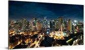 Nachtfoto van Manila Aluminium 80x40 cm - Foto print op Aluminium (metaal wanddecoratie)