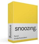 Snoozing flanel kinder hoeslaken Geel Junior (70x140/150 cm) (25 geel)