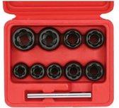 SONIC 10-delige set 3/8 spiraaldoppen