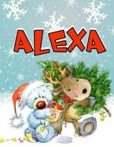 Alexa: Personalized Book with Name, Journal, Notebook, Diary, 105 Lined Pages, 8 1/2'' x 11''