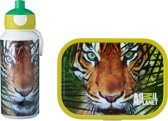 Mepal Campus Lunchset - pop up drinkfles en lunchbox - Animal Planet tijger