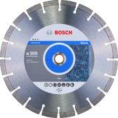 Bosch - Diamantdoorslijpschijf Expert for Stone 300 x 20,00+25,40 x 2,8 x 12 mm
