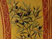 Tafelkleed Rond 177 cm Olijf Geel