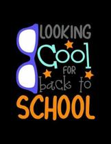 Looking Cool For Back To School: Weekly Homework Tracking Notebook and Monthly Calendar, Write and Check Off Assignments Elementary School