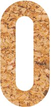 Kleefcijfers - plakcijfer - prikbord -duurzaam - kurk - 0 - 28 cm hoog