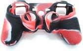 PS3 Controller Siliconen Beschermhoesje - Zwart-Rood