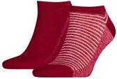 Levis - 2-Pack Low Cut Vintage Stripe Sokken Rood - 39-42