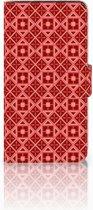 Samsung Galaxy J2 2016 Bookcase hoesje Batik Red
