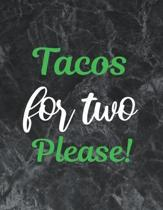 Tacos for two please: Wide Ruled Notebook Gift For a Future Doctor, Perfect for any Midwife, Obstetrician, Gynecologist.