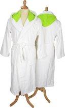 ARTG Robezz® Badjas met Gekleurde Capuchon XXXL White/Lime Green