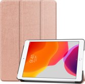 iPad 10.2 (2019) hoes - Tri-Fold Book Case - Rosé Goud