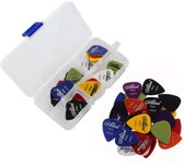 60-Delige Gitaar Plectrum Set - Pick Packs Met Plectrumhouder