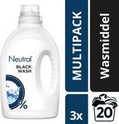 Neutral 0% Parfumvrije Wasmiddel Zwart - 60 wasbeurten - 3 stuks x 1 l