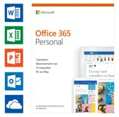 Microsoft Office 365 Personal - 1 jaar abonnement (code in doosje)
