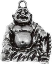 Bedel Buddha (28 x 22 mm) Antiek Zilver (5 Stuks)