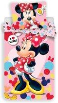 Disney Minnie Mouse Love - Dekbedovertrek - Eenpersoons - 140x200 cm - Multi