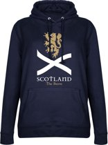 Schotland The Brave Dames Hooded Sweater - Navy - S