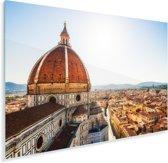Koepel van de Dom van Florence in Italië Plexiglas 180x120 cm - Foto print op Glas (Plexiglas wanddecoratie) XXL / Groot formaat!