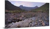 Het geografische Amfitheater in Zuid-Afirka Aluminium 160x80 cm - Foto print op Aluminium (metaal wanddecoratie)