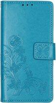 Klavertje Bloemen Booktype Nokia 4.2 hoesje - Turquoise
