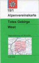 DAV Alpenvereinskarte 15/1 Totes Gebirge West 1 : 25 000 Wegmarkierungen und Skitouren