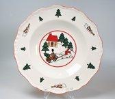 Wedgwood Christmas Village Diep bord - 21 cm