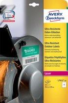 4x Avery ultra resistente etiketten voor buiten 99,1x139mm (bxh), doos a 40 etiketten