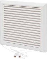 SENCYS ventilatierooster met open/dicht-stand, maat 25 x 25 cm| wit
