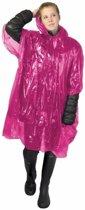 5x wegwerp regenponcho roze - poncho