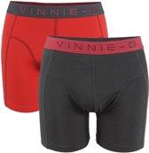 2-pack onderbroeken short Vinnie-G flamingo-Rood-S