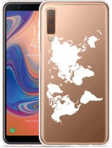 Galaxy A7 2018 Hoesje World Map