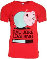Daddy Pig - Peppa Pig - Dad Joke - Heren T-Shirt Rood -M